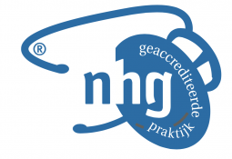 NHG accreditatie logo in blauw